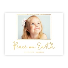 4.5x6.25 Foil Photocard - Peace On Earth Foil