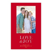 5.5x8.5 Foil Photocard - Love & Joy Foil