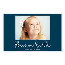 5.5x8.5 Foil Photocard - Peace On Earth Foil
